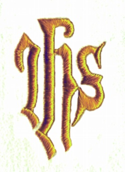 """IHS"" Christ embroidery design"