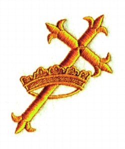Cross & Crown embroidery design