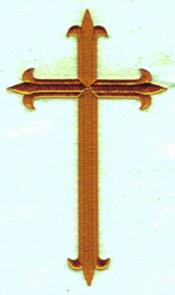 Large Cross embroidery design