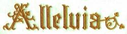 Alleluia embroidery design