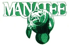 Swimming Manatee embroidery design