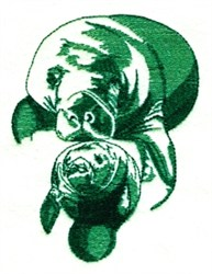Manatees embroidery design