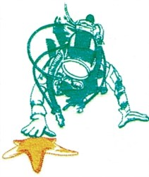 Scuba Diver embroidery design