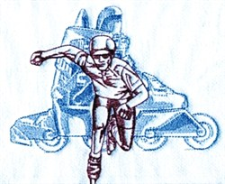 Inline Skating embroidery design