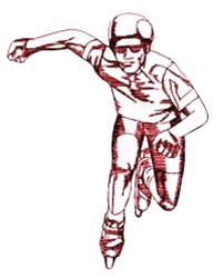 Inline Skater embroidery design
