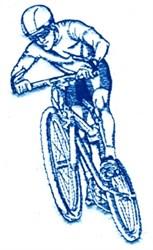 Mountain Biker embroidery design