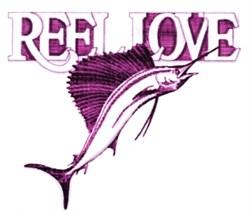 Reel Love Sailfish embroidery design