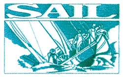 Sail Caption embroidery design