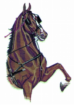 Harness Horse embroidery design