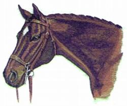 Hunter embroidery design