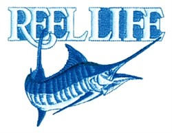 Reel Life Marlin embroidery design