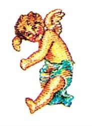 Dancing Cherub embroidery design