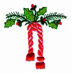 Holly Drape embroidery design