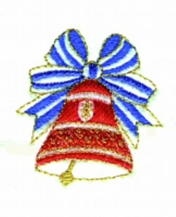 Bell embroidery design