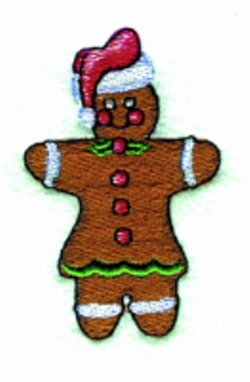Gingerbread Lady embroidery design