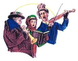Caroling Trio embroidery design