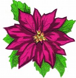 Poinsettia Applique embroidery design