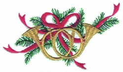 French Horns embroidery design