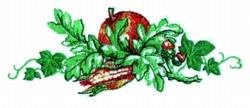 Oak Bounty embroidery design
