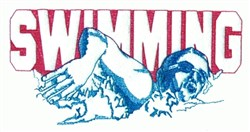 Swimming Swimmer embroidery design