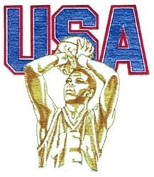 USA Basketball embroidery design