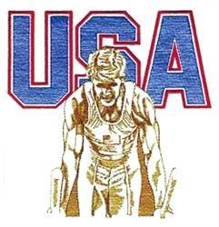 USA Mens Gymnastics embroidery design