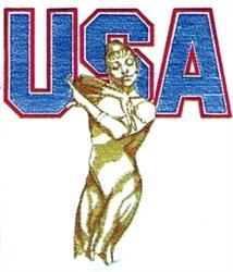 USA Womens Gymnastics embroidery design