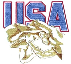 USA Wrestling embroidery design