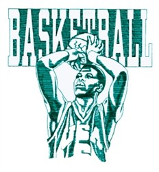Mens Basketball embroidery design