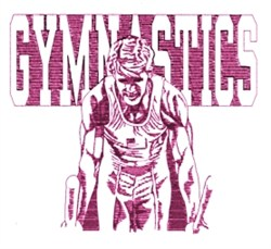 Mens Gymnastics embroidery design