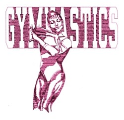 Womens Gymnastics embroidery design
