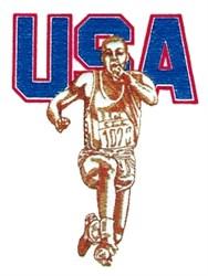 USA Mens Track embroidery design