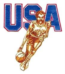 USA Ladies Basketball embroidery design
