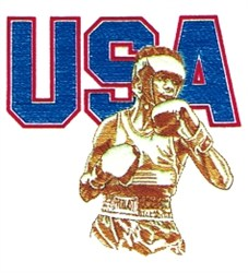USA Boxing embroidery design