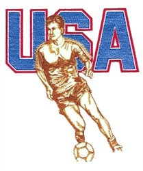 USA Soccer embroidery design