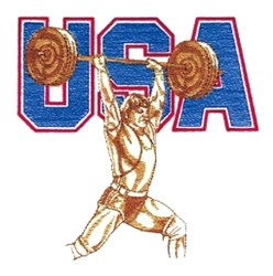 USA Weightlifting embroidery design
