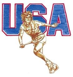 USA Ladies Tennis embroidery design