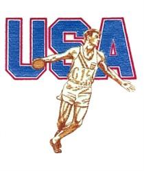 USA Mens Discus embroidery design