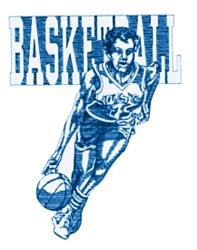 Ladies Basketball embroidery design