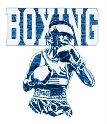 Mens Boxing embroidery design