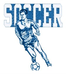 Mens Soccer embroidery design