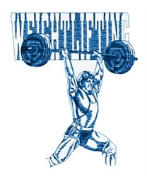 Mens Weightlifting embroidery design