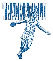 Track & Field Discus embroidery design