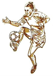Ladies Soccer embroidery design
