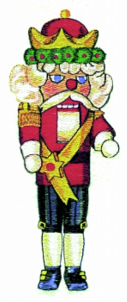 Nutcracker embroidery design