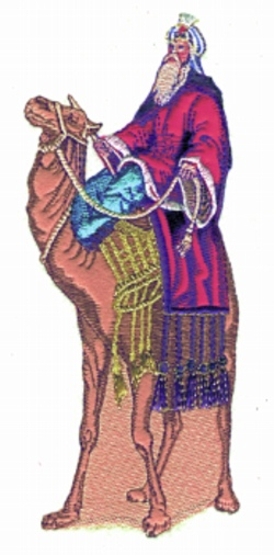 Wiseman Applique embroidery design