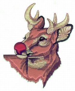 Rudolph Applique embroidery design