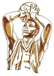 Basketball Shot embroidery design