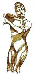 Female Gymnast embroidery design