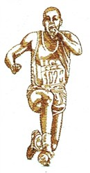 Track Runner embroidery design